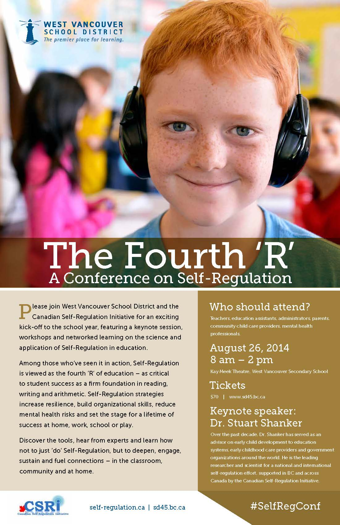 The Fourth R – A Conference on Self-Regulation at the Kay Meek Centre West Vancouver