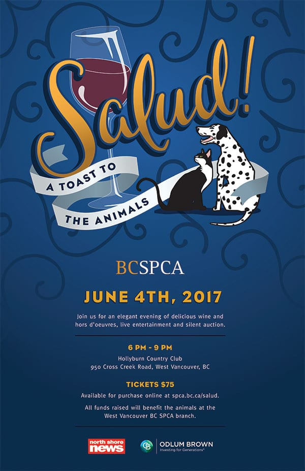 Salud! A Toast to the Animals at the West Vancouver BC SPCA Community Animal Centre