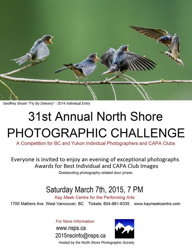 Kay Meek Centre Presents the 31st Annual North Shore Photographic Challenge