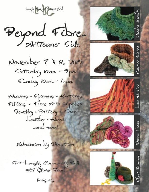 Beyond Fibre – Langley Weavers and Spinners Guild Artisan Show and Sale