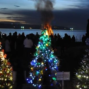 Christmas Wassail and Bonfire Night at Dundarave Park West Vancouver
