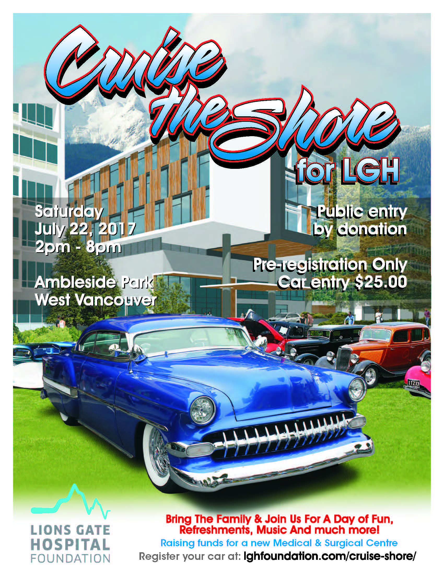 Cruise the Shore for LGH at Ambleside Park West Vancouver