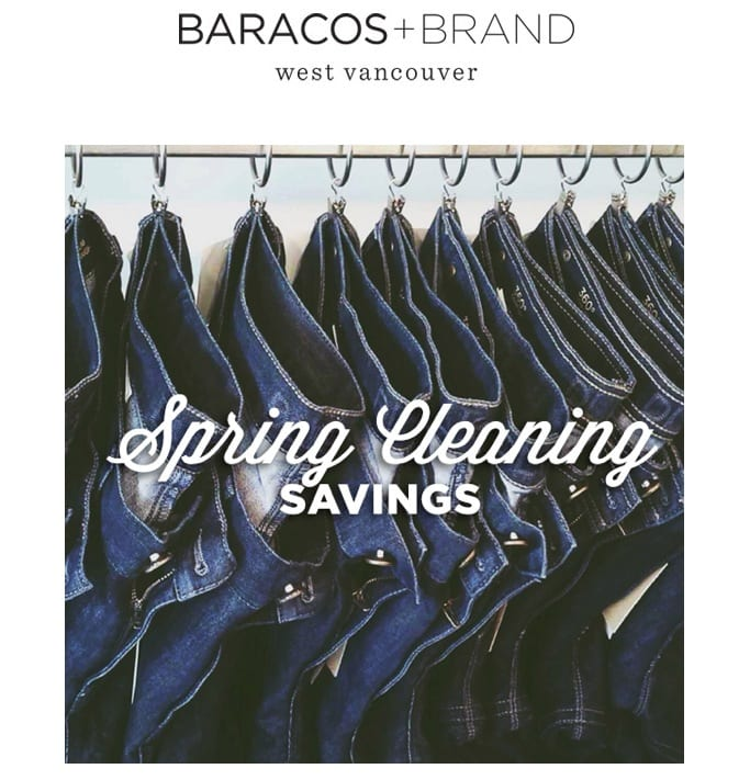 Baracos and Brand Winter Sale