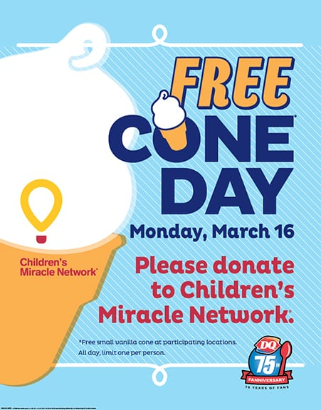 FREE Cone Day — Kick off to DQ's 75th Anniversary Vancouver