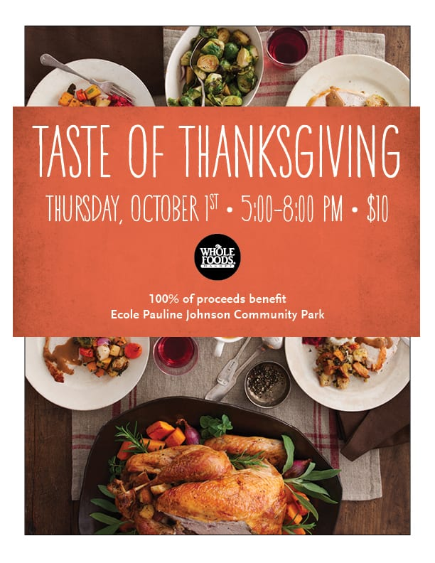 Taste of Thanksgiving at the Whole Foods Market Park Royal West Vancouver