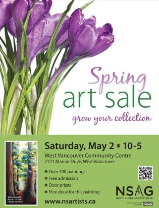 The Spring Art Sale by the North Shore Artist Guild at the West Vancouver Community Centre