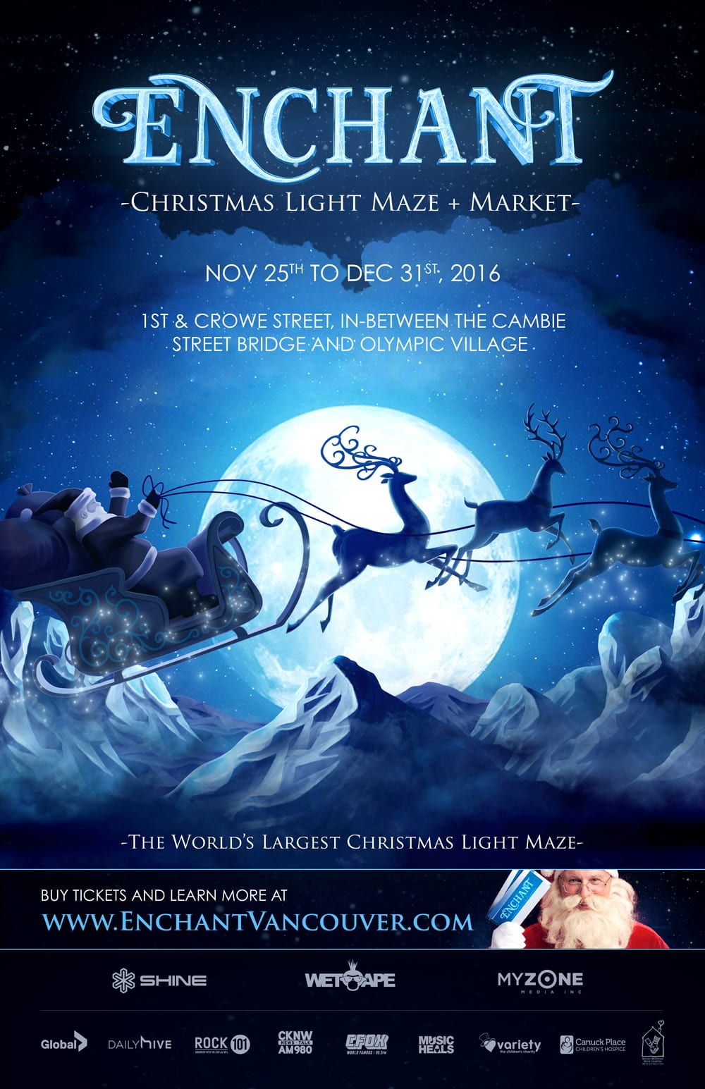 Enchant – Christmas Light Maze and Market Vancouver