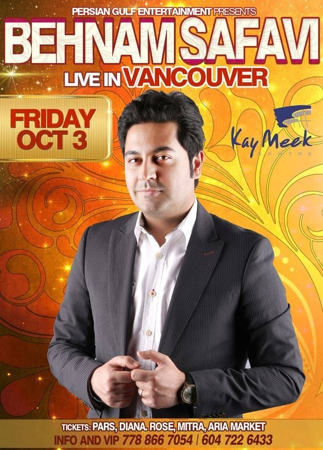 Kay Meek Centre Presents Behnam Safavi Live in Vancouver