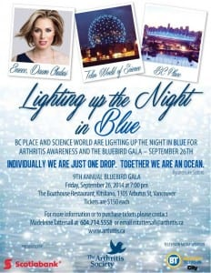 9th Annual Bluebird Gala – for The Arthritis Society in Vancouver