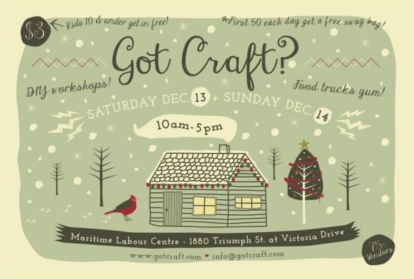 Got Craft? Holiday Edition Vancouver at the Maritime Labour Centre