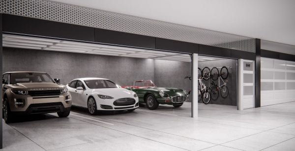 Indoor garage area