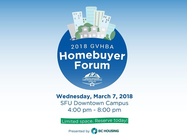 GVHBA Homebuyer Forum at the SFU Downtown Vancouver