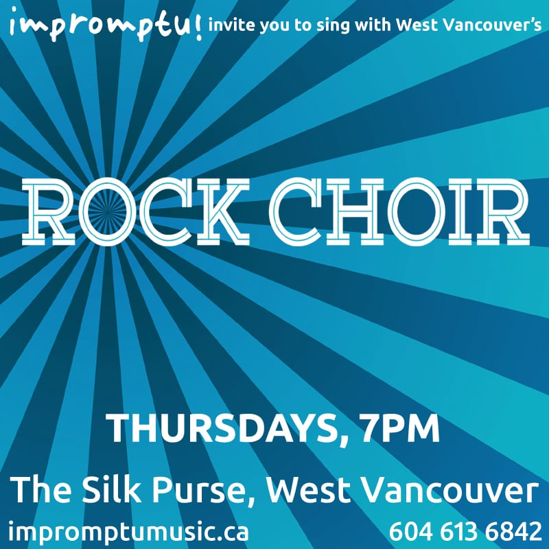 Impromptu Rock Choir at The Silk Purse Arts Centre West Vancouver