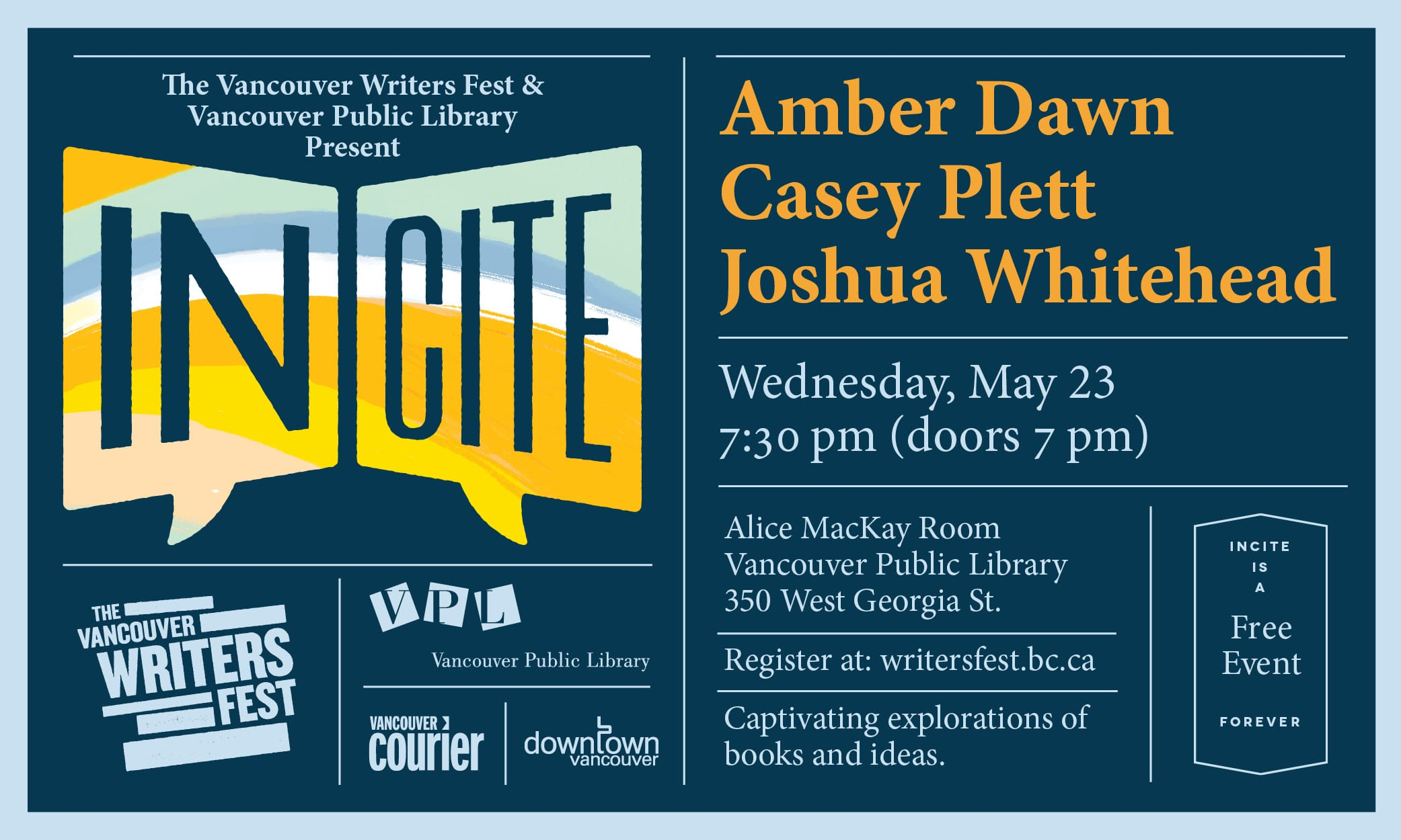 Incite: A Celebration of Arsenal Pulp Press at the Vancouver Public Library