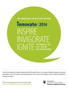 INNOVATE 2014: UBC Engineering & Architecture Dialogues in Vancouver
