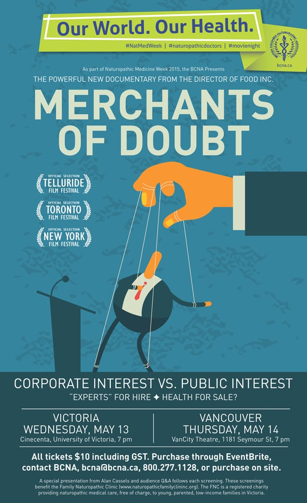 Merchants of Doubt Charity Screening with Alan Cassels at the VanCity Theatre