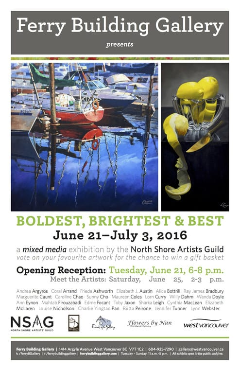 North Shore Artists' Guild Ferry Building 2016 Mixed Media Exhibition