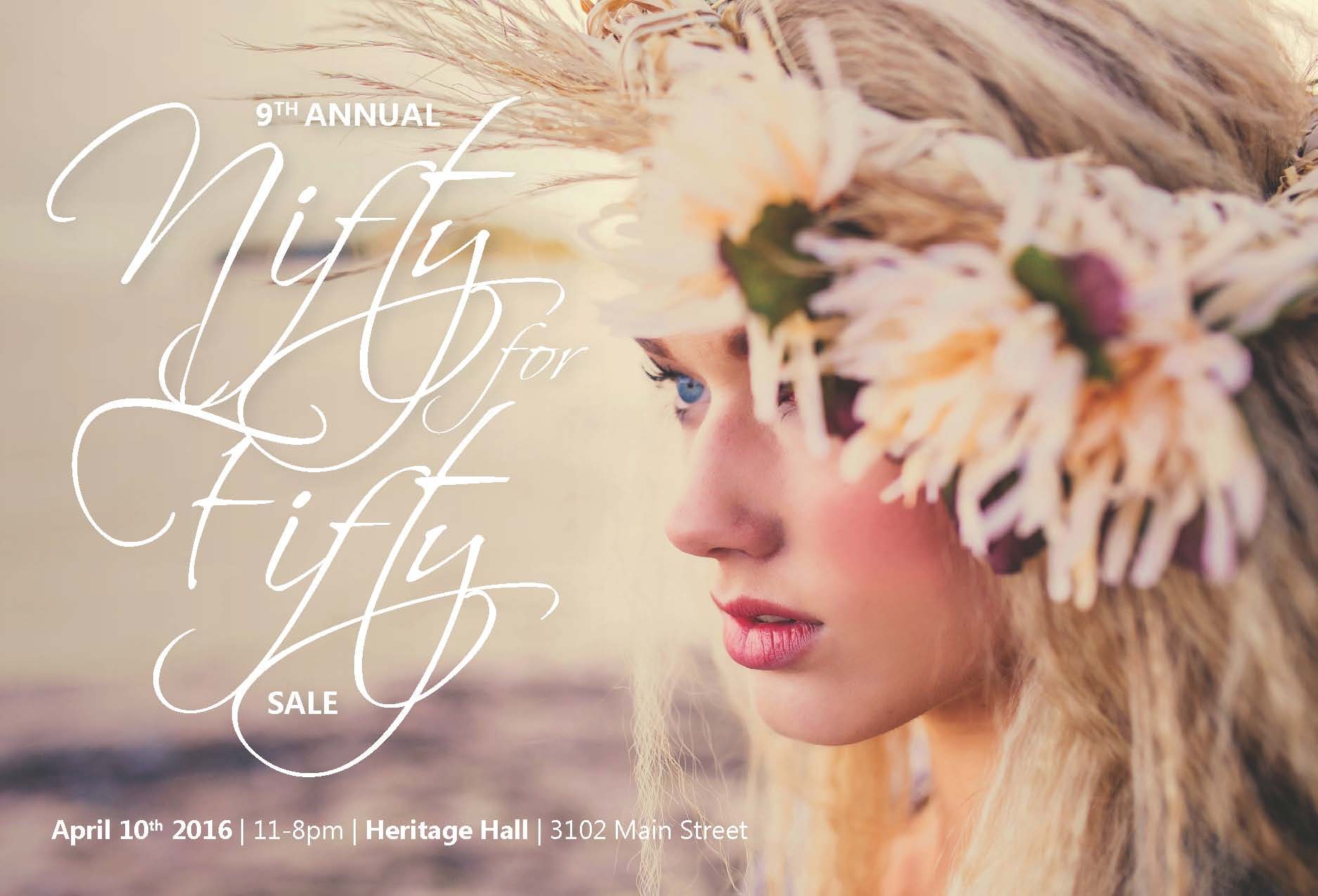 9th Annual Nifty for Fifty Indie Designer Blowout Sale at the Heritage Hall Vancouver