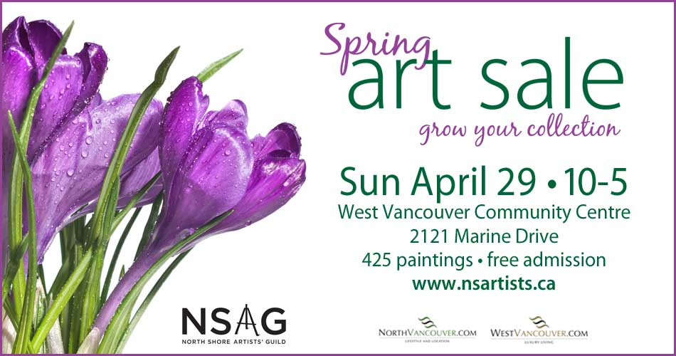 North Shore Artist' Guild Annual Spring Art Sale at the West Vancouver Community Centre