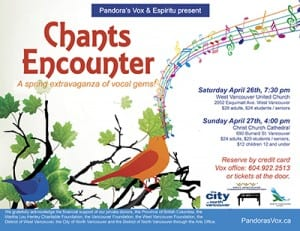Pandora's Vox & Espiritu present CHANTS ENCOUNTER