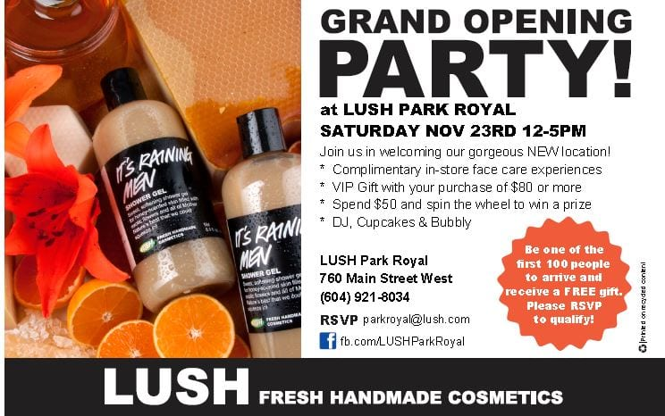 LUSH Grand Opening Party