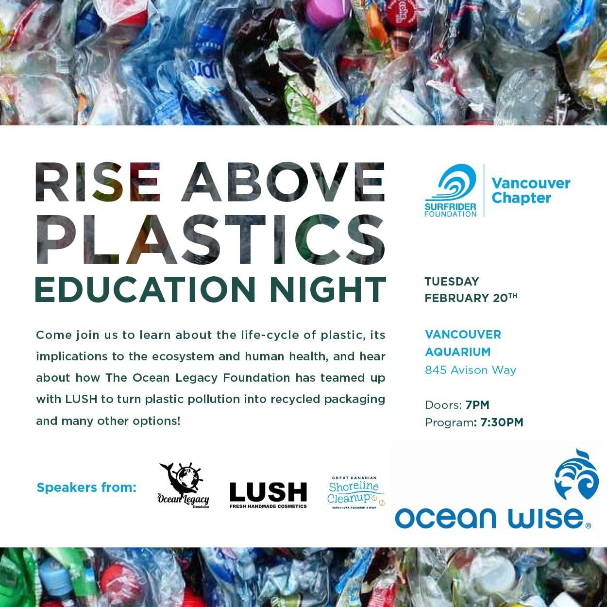 Rise Above Plastics | Education Night at The Vancouver Aquarium