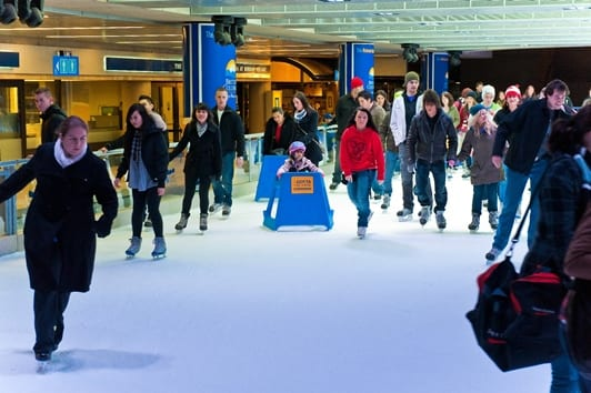 Robson Square Ice Rink Open for Free Skating
