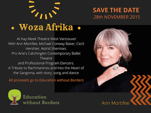Woza Afrika 2015 at the Kay Meek Centre West Vancouver