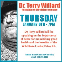 Dr. Terry Willard Talk at the Whole Foods Market Park Royal West Vancouver