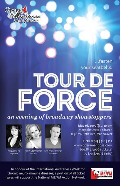 TOUR DE FORCE An Evening of Broadway Showstoppers at Marpole United Church Vancouver