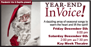 Pandora's Vox & Espiritu Present Year End InVoice at the Kay Meek Centre West Vancouver