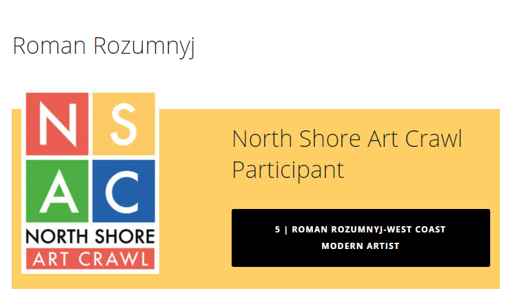 North Shore Art Crawl – Meet West Vancouver Artist Roman Rozumnyj