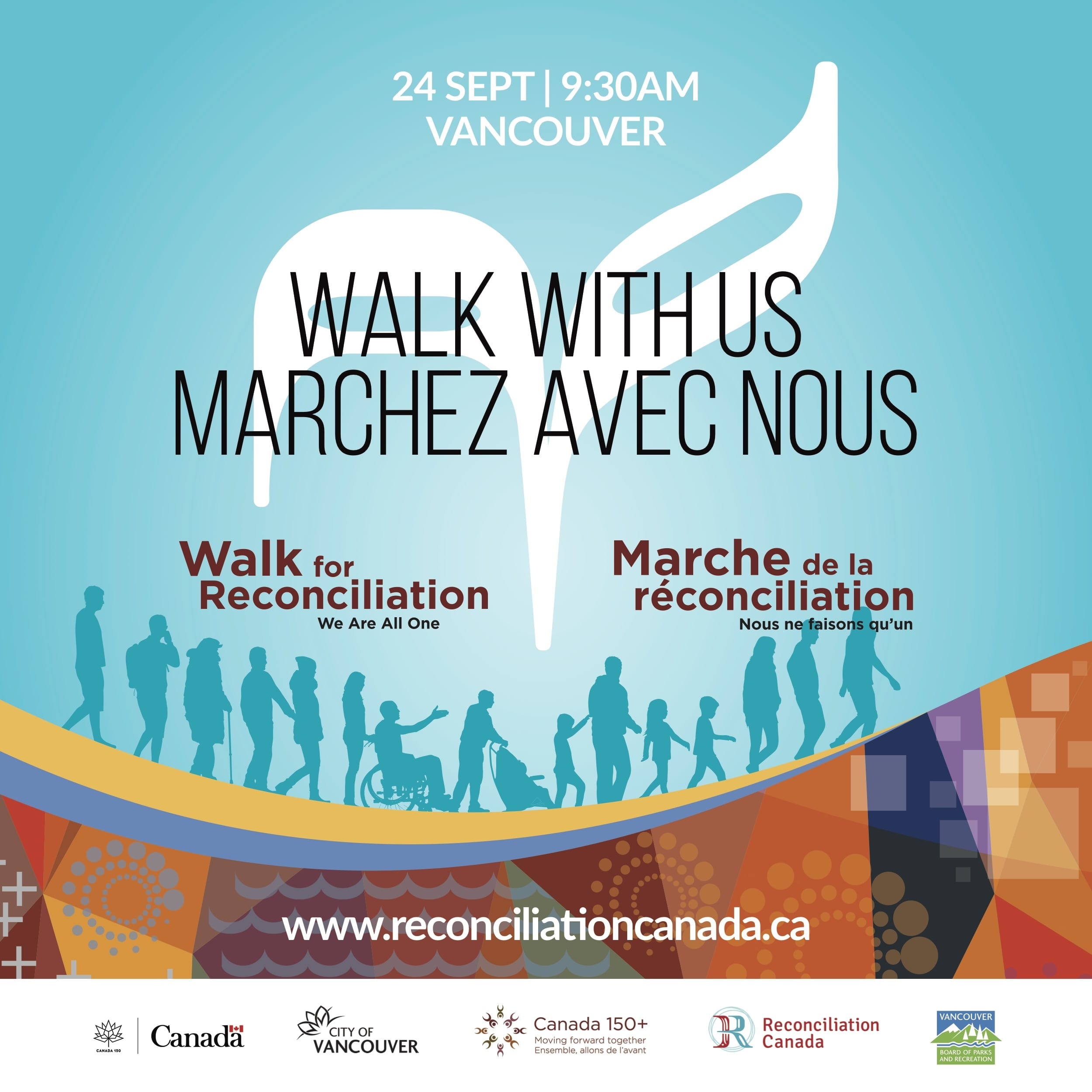 Walk for Reconciliation from Downtown Vancouver to Strathcona Park