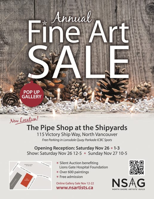 North Shore Artists Guild at The Pipe Shop Lower Lonsdale North Vancouver