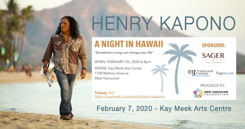 Henry Kapono Aloha Vancouver Concert