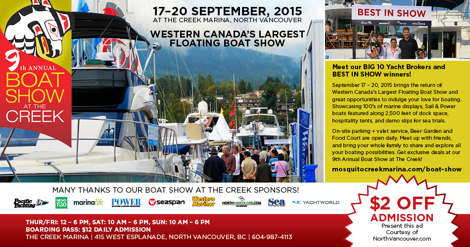 Boat Show at the Creek North Vancouver