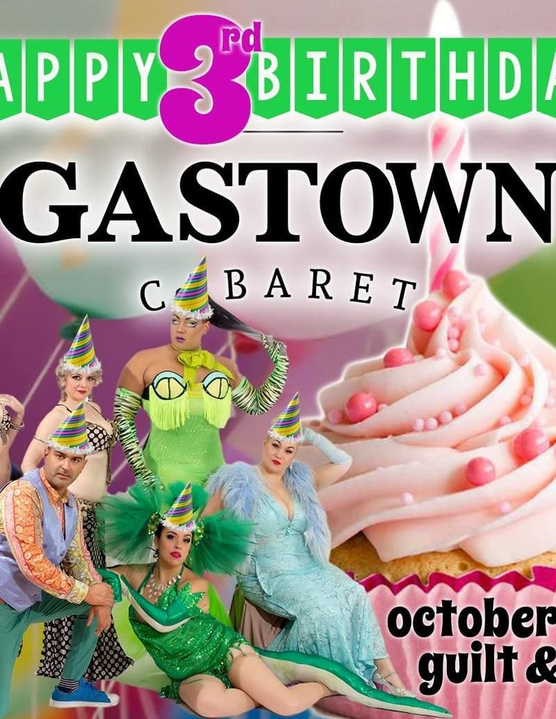 Happy 3rd Birthday Gastown Cabaret in Vancouver