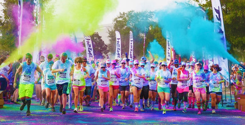 Color Vibe 5K Run Vancouver at the Town Centre Park Coquitlam