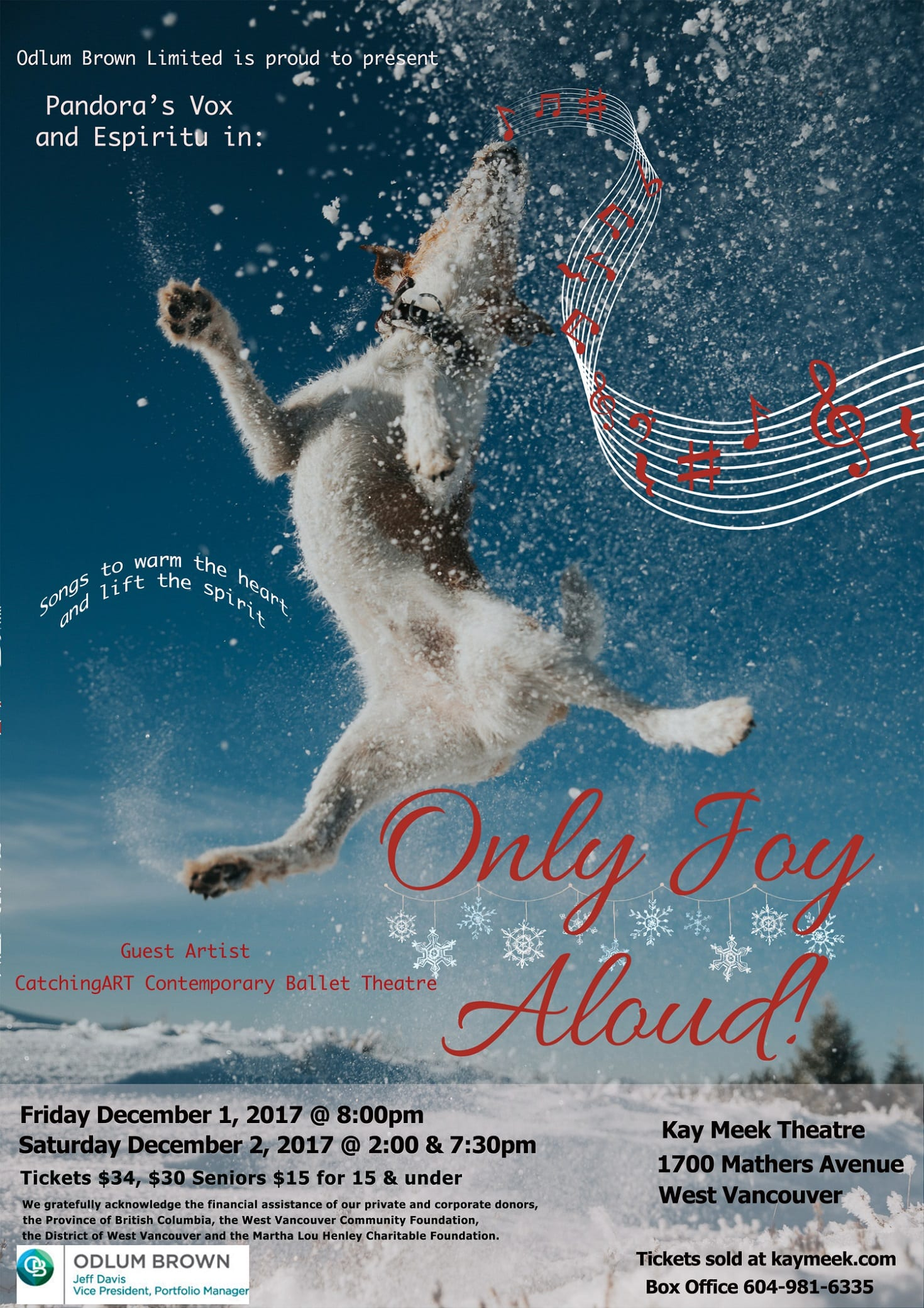 Only Joy Aloud! Presented by Pandora's Vox & Espiritu Vocal Ensembles at the Kay Meek Centre West Vancouver