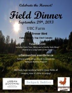 UBC Field Dinner 2013