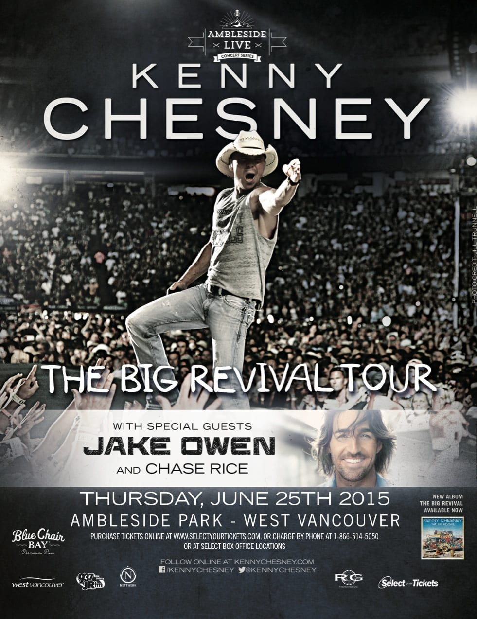 Kenny Chesney – The Big Revival Tour at Ambleside Park West Vancouver