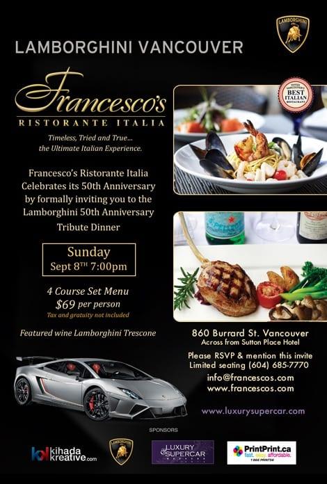 Lamborghini Vancouver Supercar Dinner