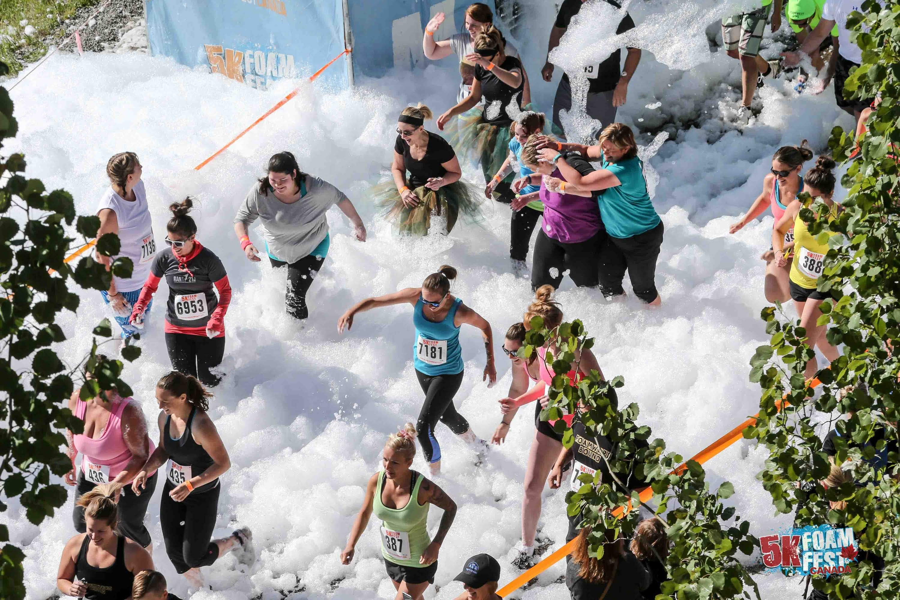 5K Foam Festival at the Abbotsford Exhibition Park