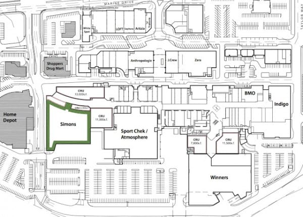 New Park Royal Mall Quot Floorplan Quot Revealed West Vancouver Bc