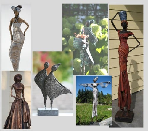 Orange Wire Art: Sculpting with Fabric at the West Vancouver United Church