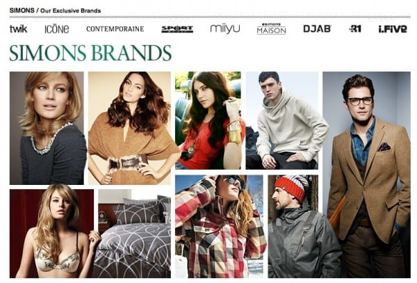 Simons Store Brands