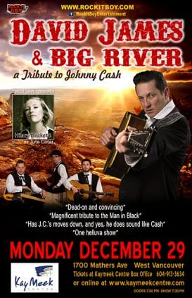 David James & Big River at the Kay Meek Centre West Vancouver