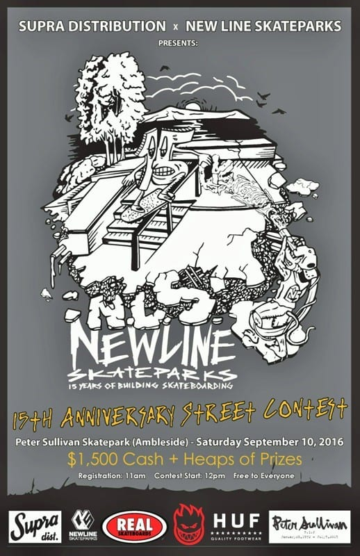 New Line Skateparks & Supra Distribution Skate Competition at Peter Sullivan/Ambleside Skatepark