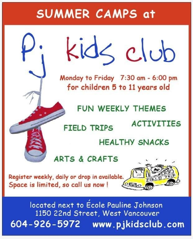Summer Camps at PJ Kids Club West Vancouver