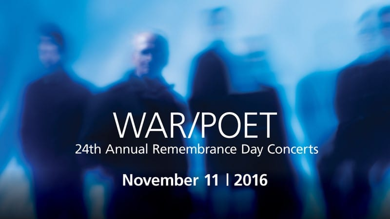 24th Annual Remembrance Day Concert – WAR/POET with Chor Leoni